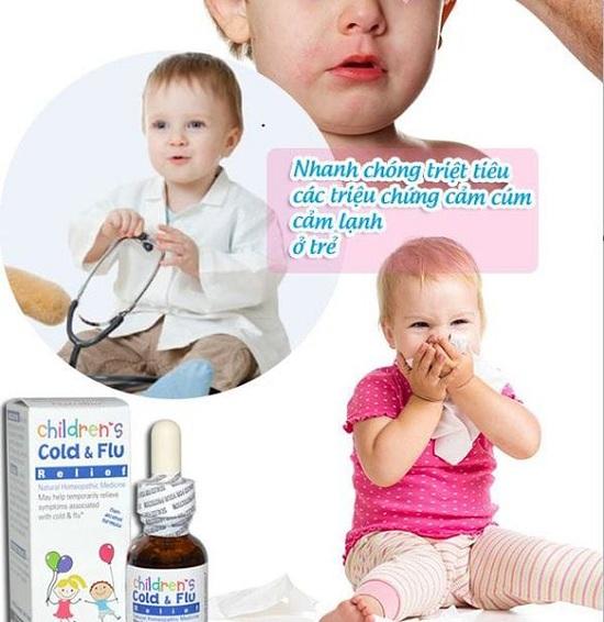 Thuốc trị cảm cúm của Mỹ Cold & Flu Natrabio cho trẻ sơ sinh 1
