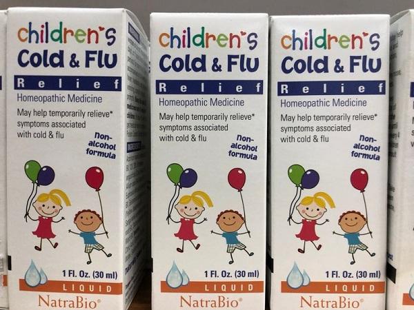 Thuốc trị cảm cúm của Mỹ Cold & Flu Natrabio cho trẻ sơ sinh 6