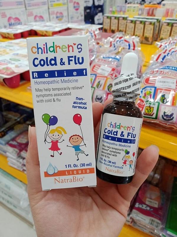 Thuốc trị cảm cúm của Mỹ Cold & Flu Natrabio cho trẻ sơ sinh 3