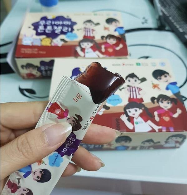 Thạch sâm baby Sanga của Hàn Quốc, Hộp 14 gói x 20g giá tốt 1