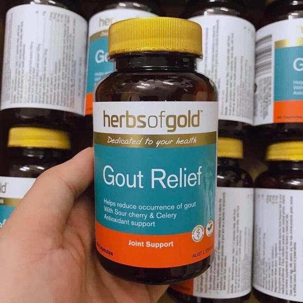 Viên hỗ trợ trị gút Gout Relief Herbs Of Gold Úc hộp 60 viên 6