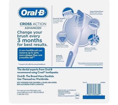 Set 8 bàn chải đánh răng Oral-B Cross Action Advanced giá bao nhiêu-2