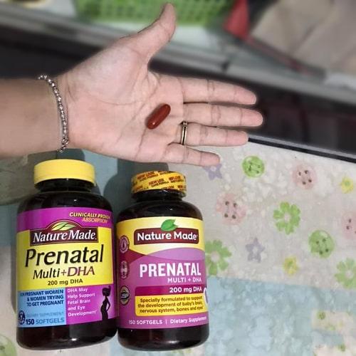 Cách sử dụng thuốc Nature Made Prenatal Multi + DHA-3