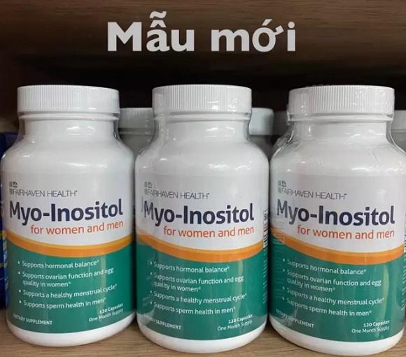 Viên uống Myo Inositol Mỹ - Tăng khả năng thụ thai cho nam, nữ 5