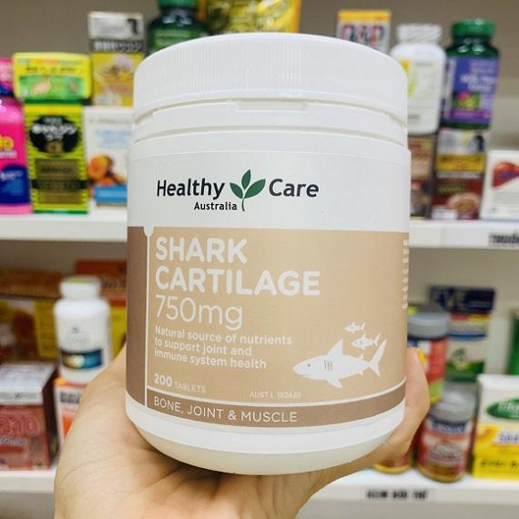 Sụn cá mập Úc Healthy Care Shark Cartilage 750mg 200 viên 1