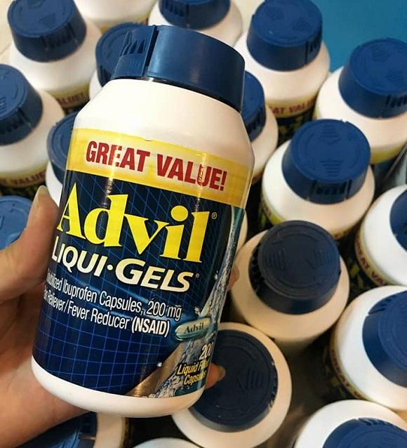 Advil Liqui Gels 200mg - Thuốc giảm đau của Mỹ 200 viên 8