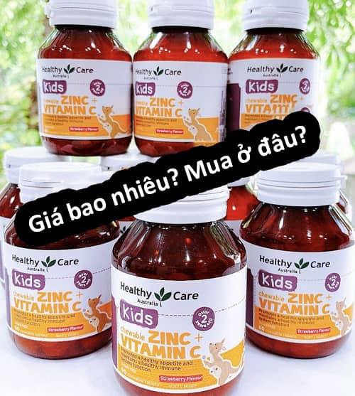 Viên nhai Healthy Care Zinc + Vitamin C giá bao nhiêu-3