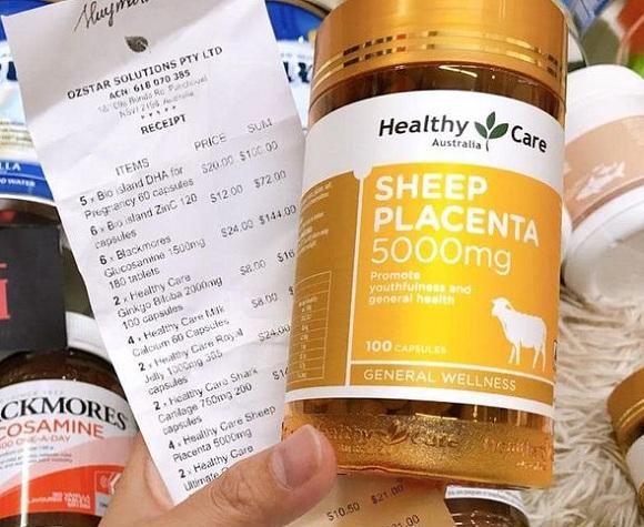 Viên uống nhau thai cừu Sheep Placenta 50000mg 100 viên Úc 7