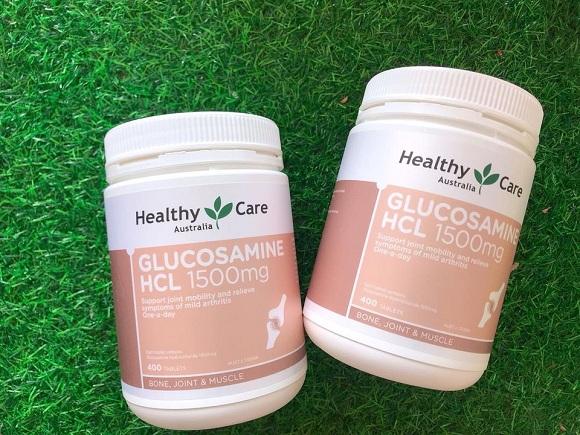 Glucosamine HCL 1500mg của Úc Healthy Care hộp 400 viên 1