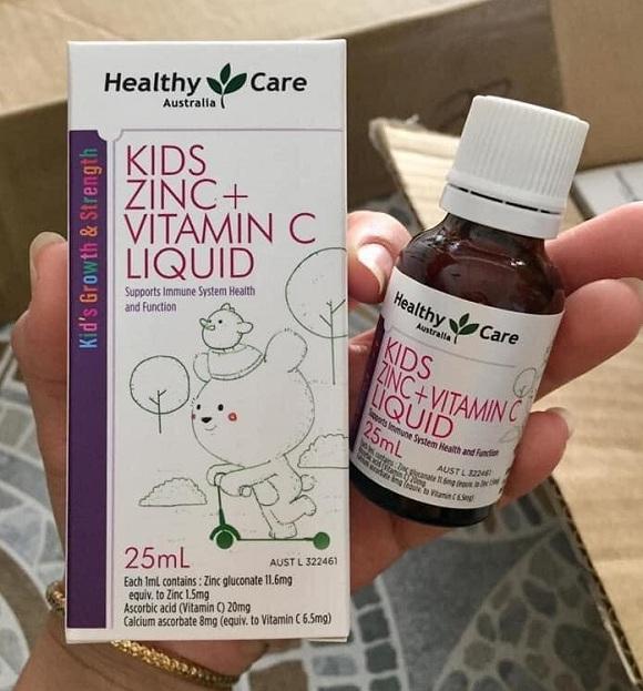 Healthy Care Kids Zinc + Vitamin C Liquid 25ml chính hãng Úc 1