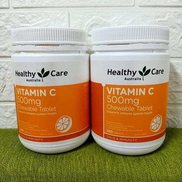 Healthy Care Vitamin C 500 viên của Úc - Viên ngậm vị cam 9