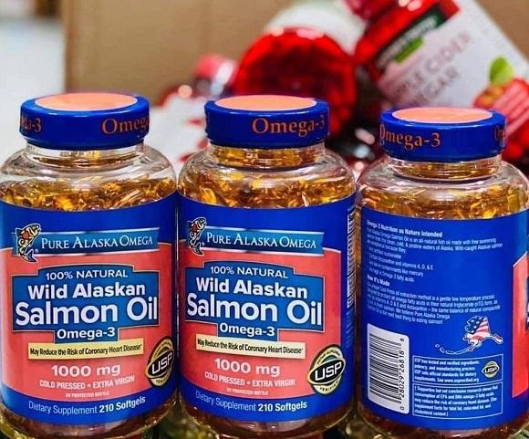 Dầu cá hồi Omega 3 Salmon Oil 1000mg Pure Alaska mẫu mới 9
