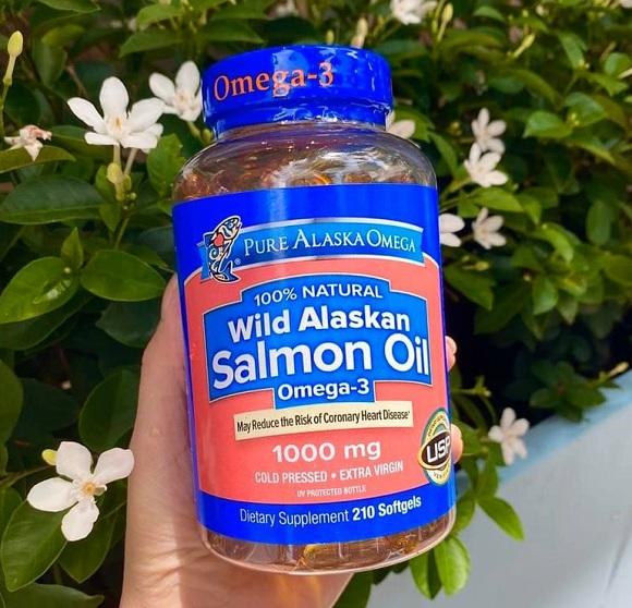 Dầu cá hồi Omega 3 Salmon Oil 1000mg Pure Alaska mẫu mới 1
