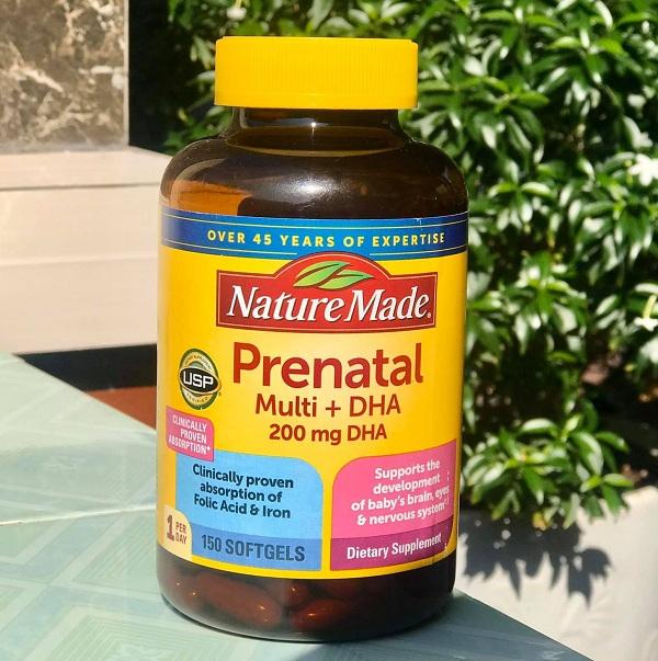 Nature Made Prenatal Multi + DHA 150 viên cho bà bầu 1