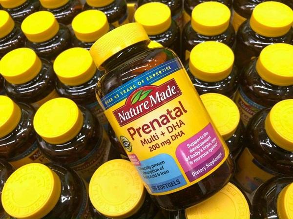 Nature Made Prenatal Multi + DHA 150 viên cho bà bầu 0