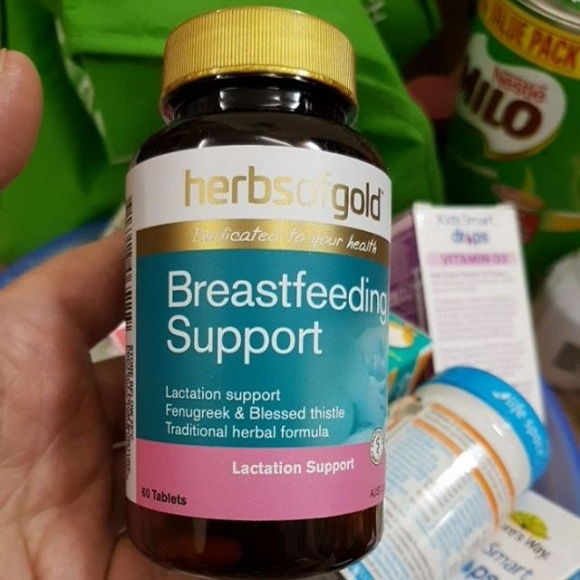 Review viên uống lợi sữa Herbs of Gold Breastfeeding Support 6