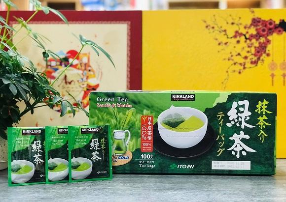 Cách sử dụng trà xanh Green Tea Kirkland hiệu quả 1