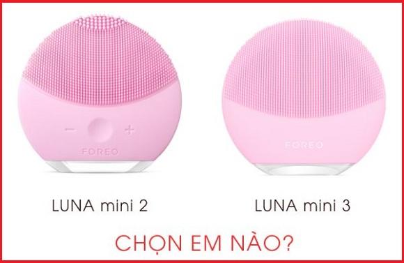 So sánh máy rửa mặt Foreo Luna Mini 2 và Luna Mini 3 0