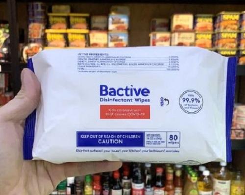 Khăn ướt diệt khuẩn Bactive mua ở đâu giá tốt nhất?
