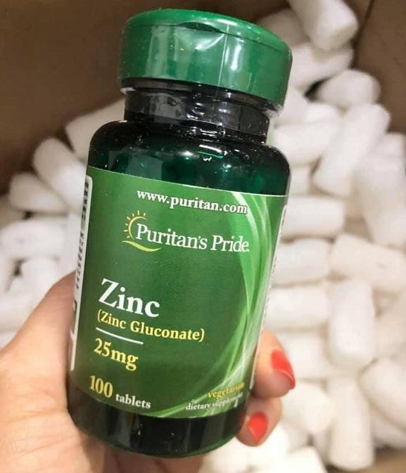 Viên uống kẽm Zinc Gluconate 25mg Puritan's Pride 100 viên 7
