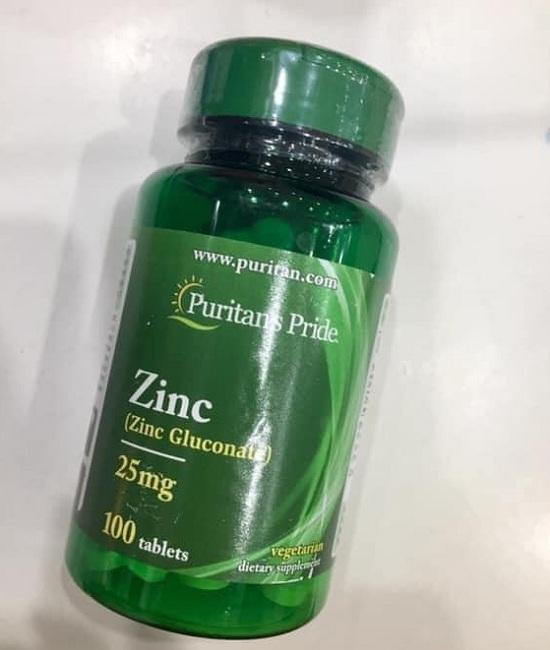 Viên uống kẽm Zinc Gluconate 25mg Puritan's Pride 100 viên 3