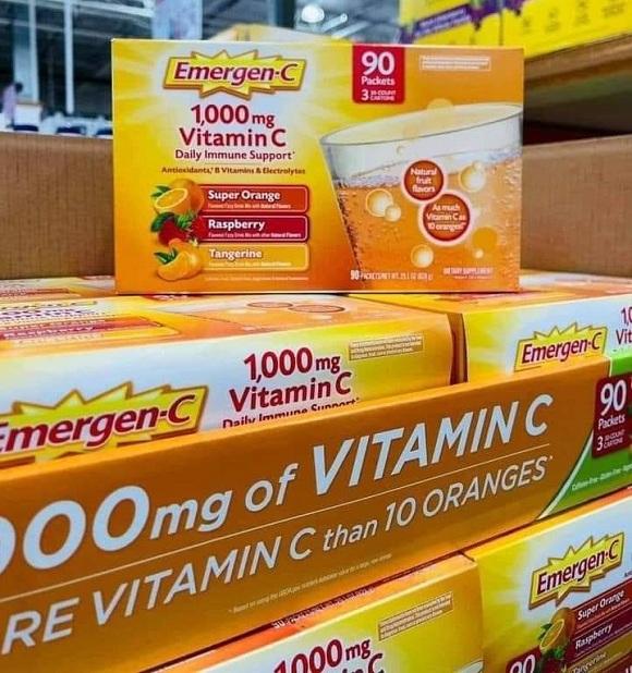 Emergen-C 1000mg Vitamin C dạng bột hòa tan, tăng đề kháng 7