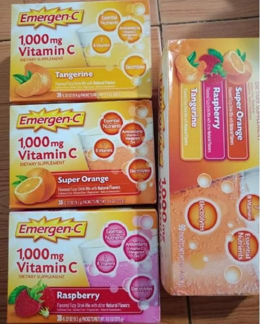 Emergen-C 1000mg Vitamin C dạng bột hòa tan, tăng đề kháng 9