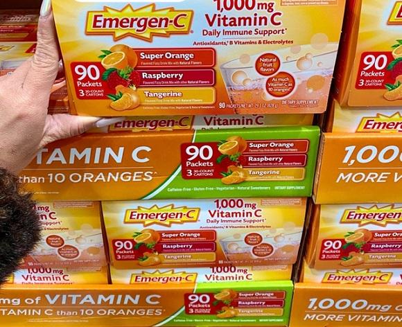 Emergen-C 1000mg Vitamin C dạng bột hòa tan, tăng đề kháng 2