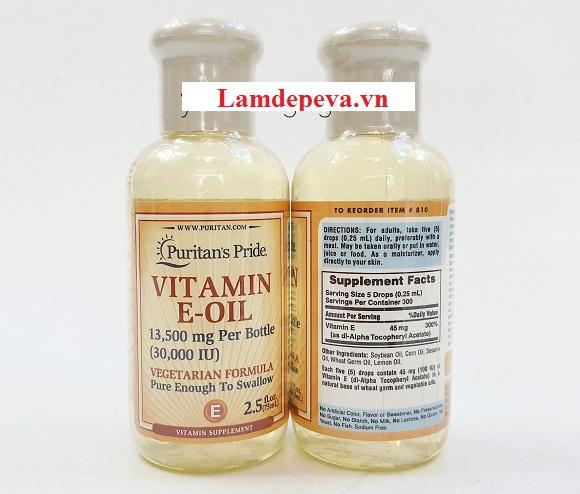 Vitamin E-Oil 30000IU Puritan's Pride dạng tinh dầu 74ml 9