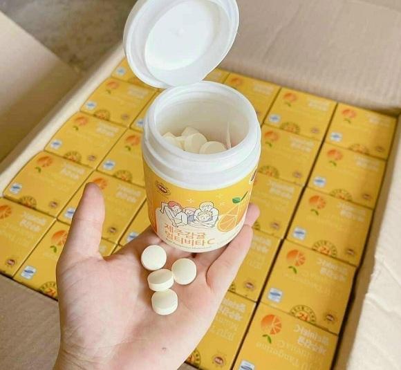 Viên ngậm Vitamin C Hàn Quốc Jeju 4000mg - Hộp 80 viên 9
