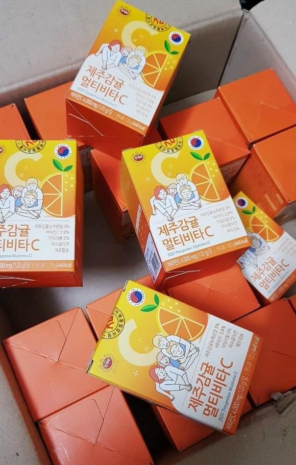 Viên ngậm Vitamin C Hàn Quốc Jeju 4000mg - Hộp 80 viên 7